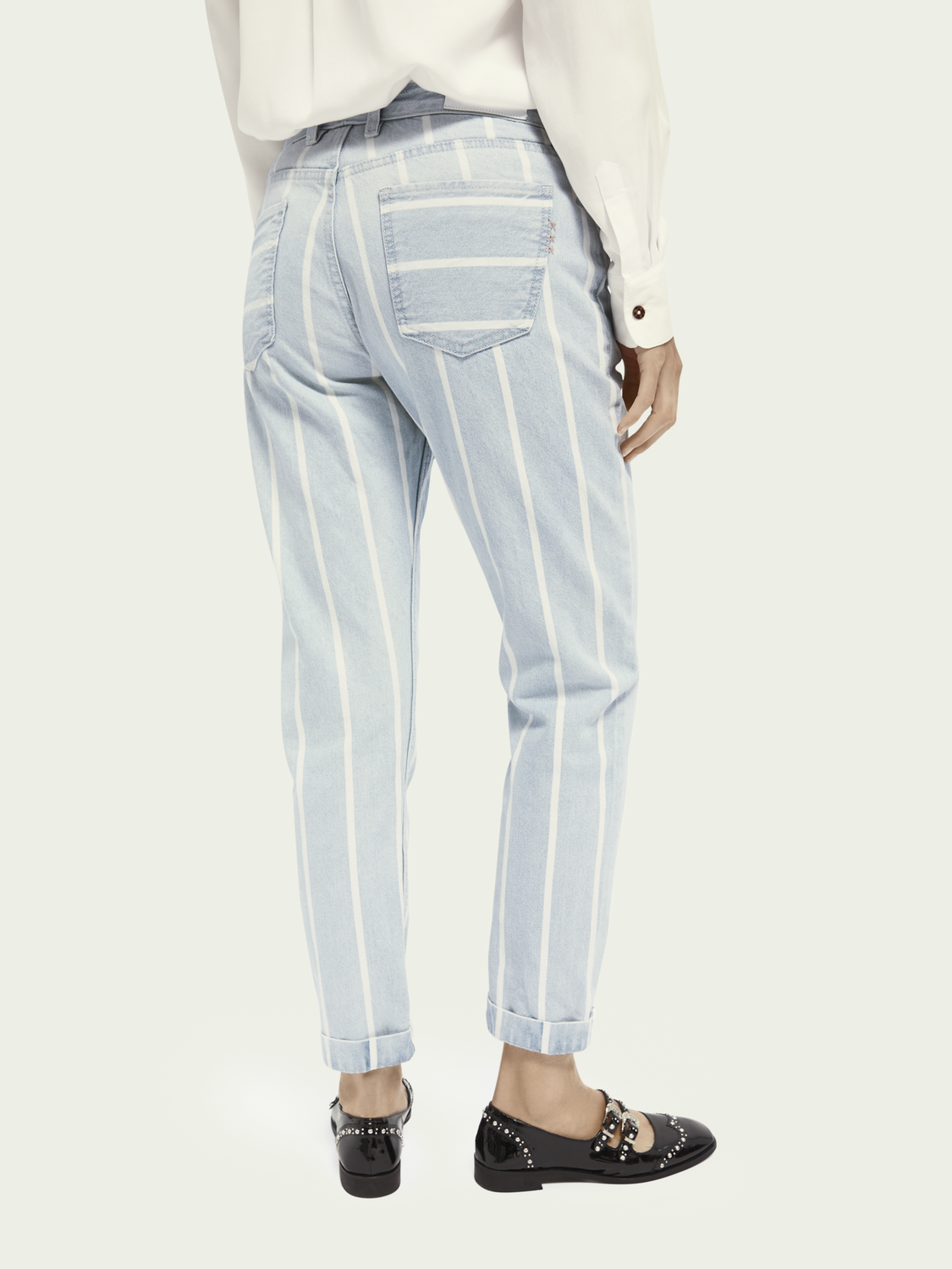 Women Bandit - Indigo Stripe | Boyfriend fit jeans