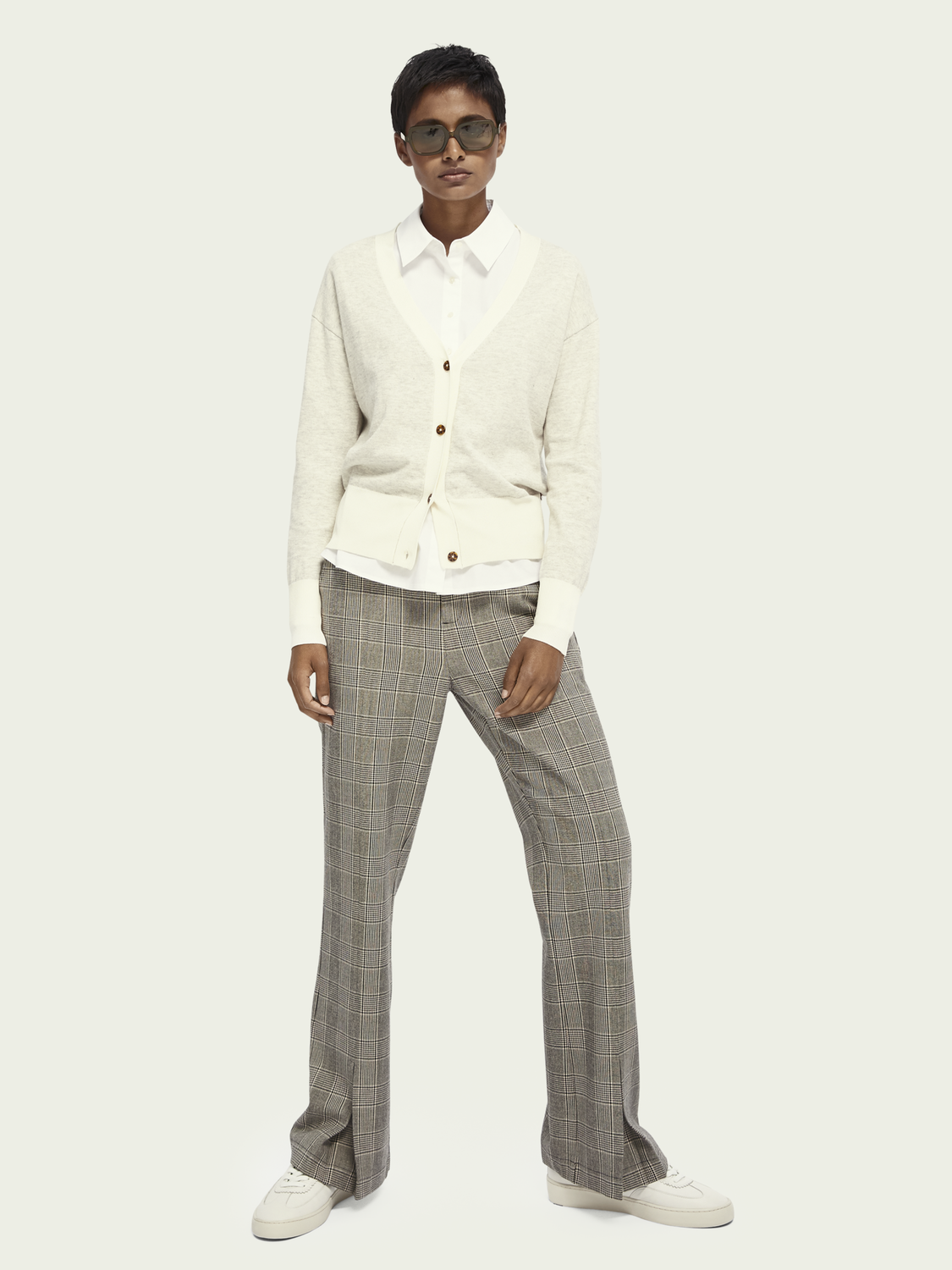 Women Flared checked pants