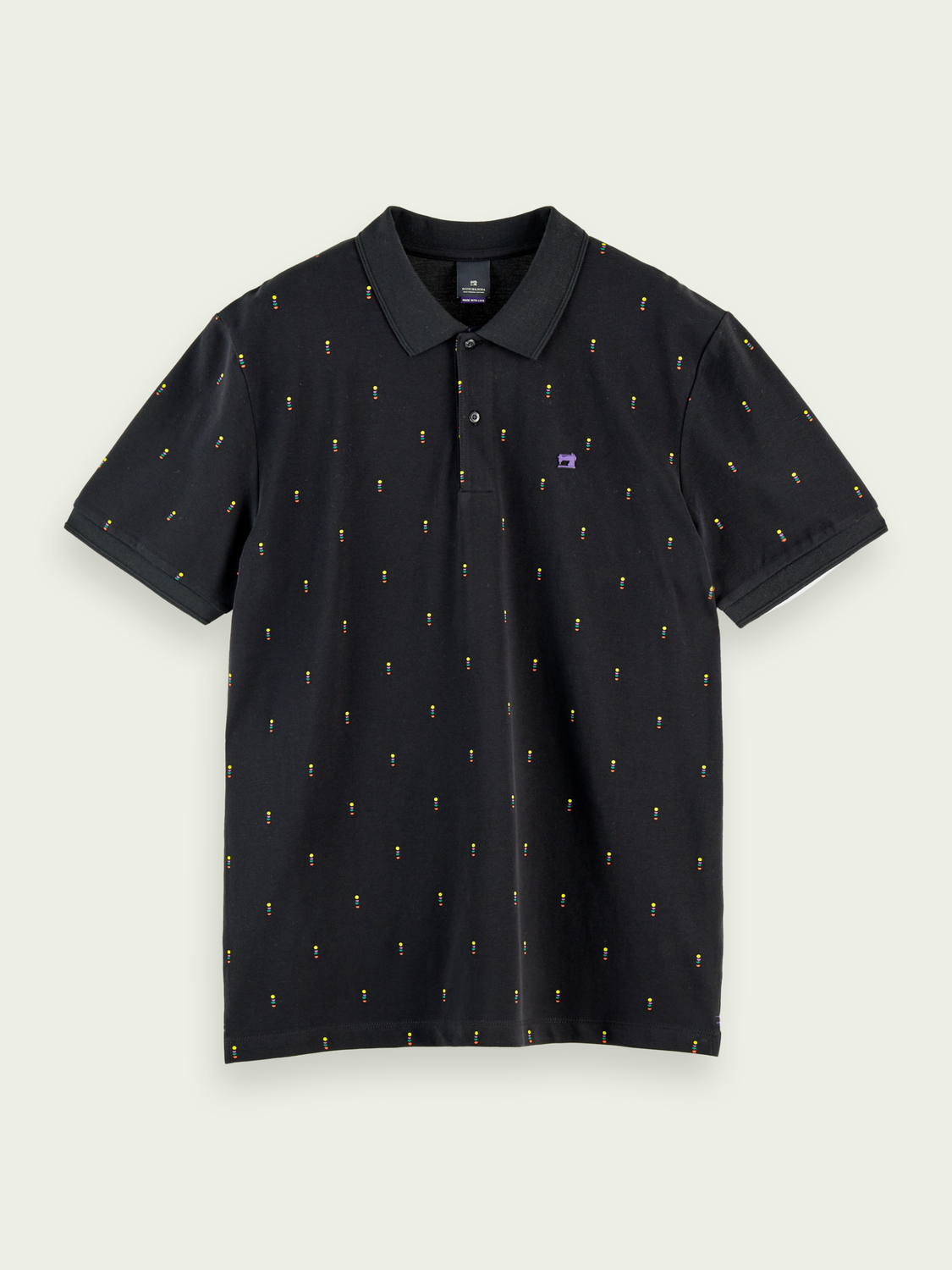 Heren Patterned cotton-pique polo shirt
