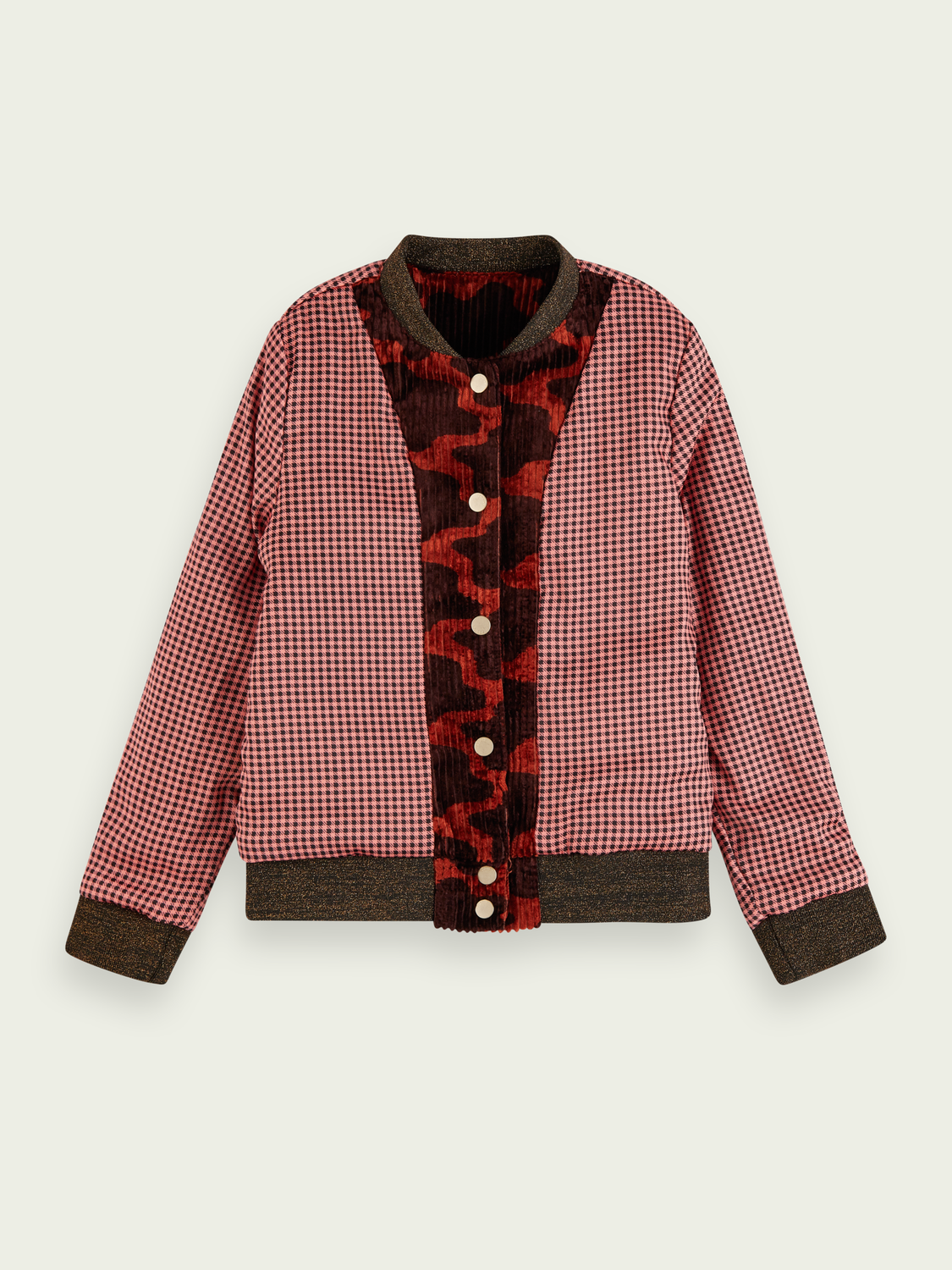 Kids Reversible corduroy artwork jacket