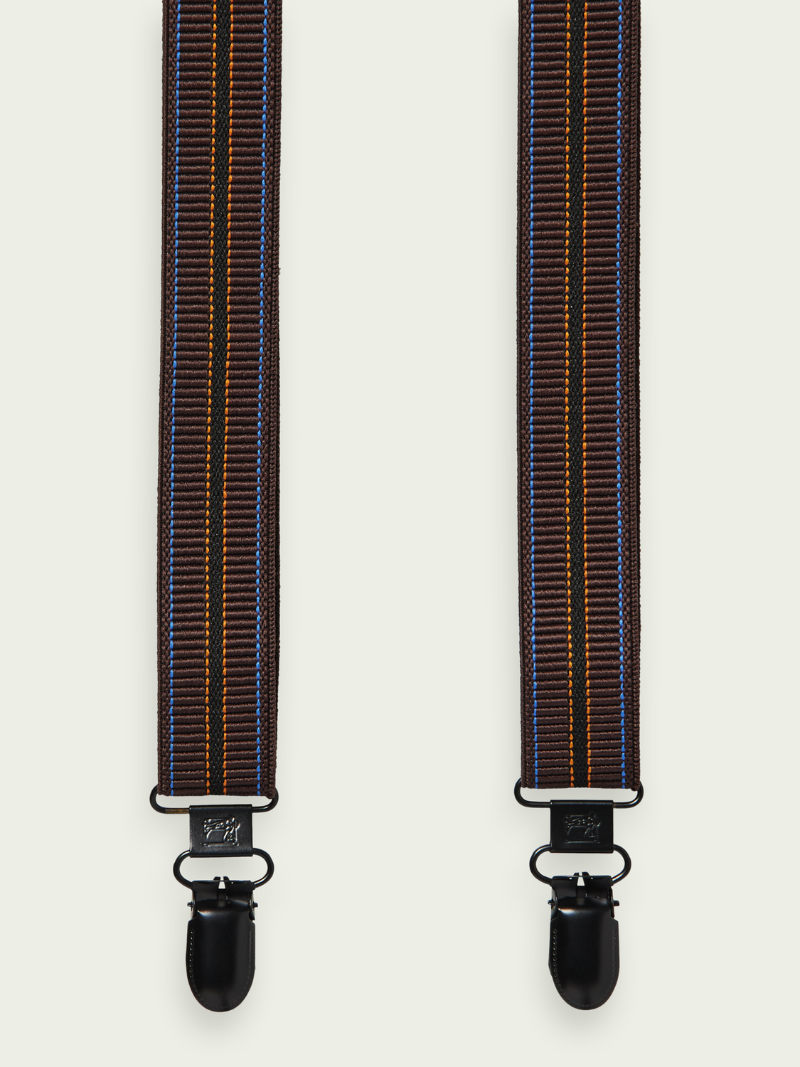 Men Classic leather trimmed suspenders