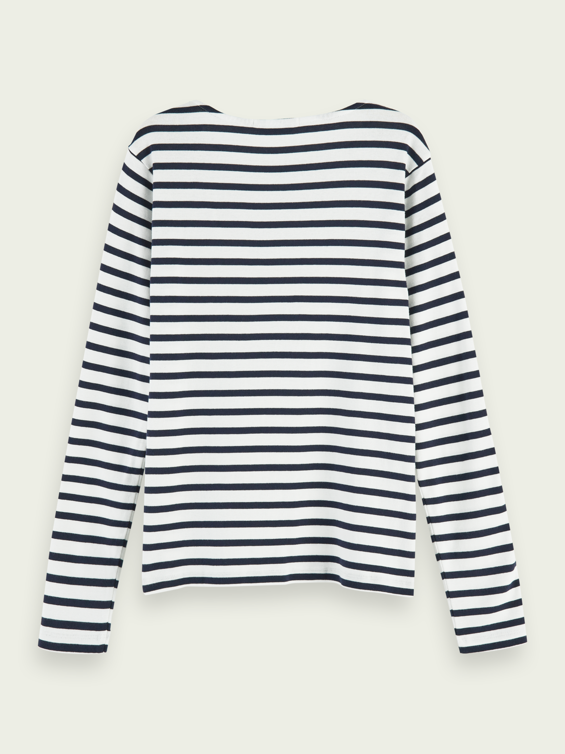 Women Zip detail long sleeve Breton stripe t-shirt