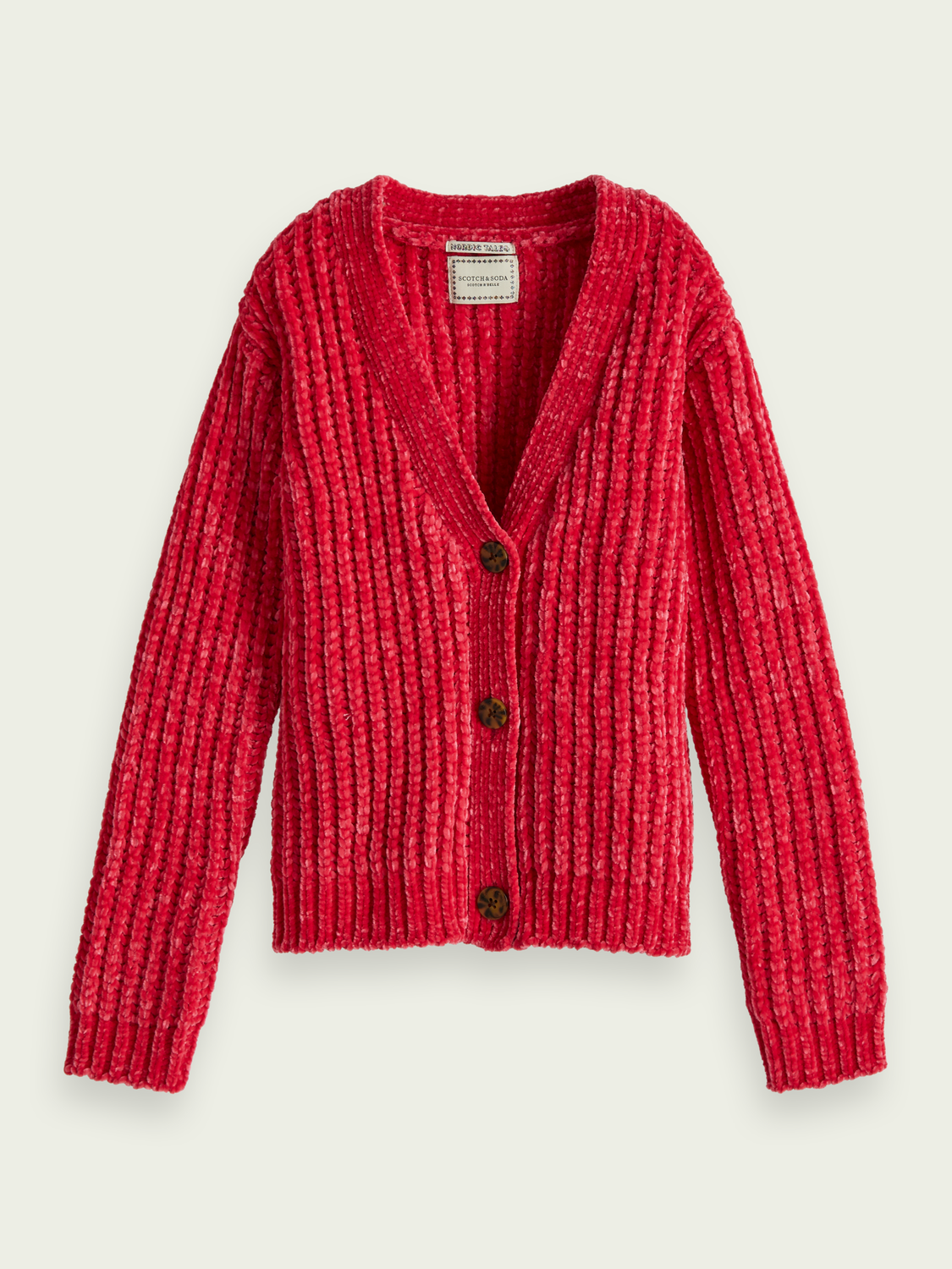 Kids Knitted chenille cardigan