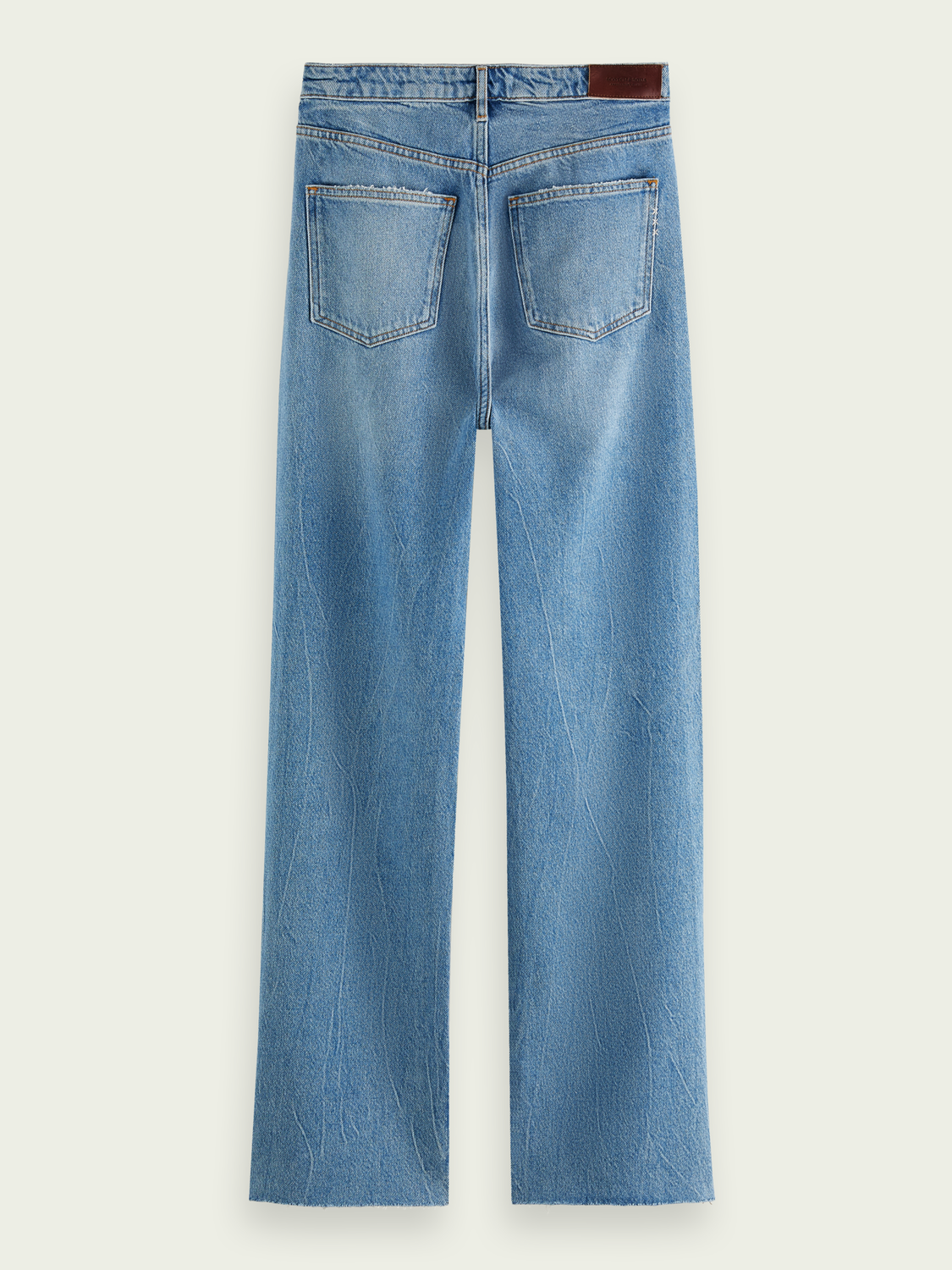 Damer Jeans med high-rise straight fit