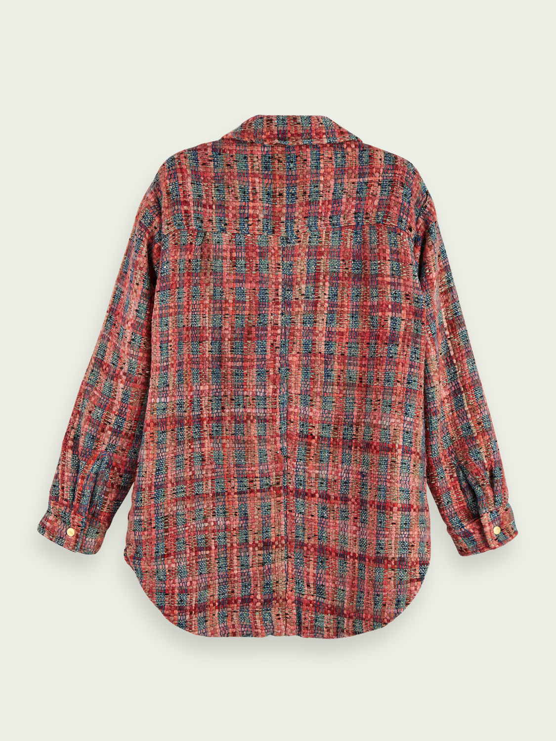 Women Wool-blend tweed shirt jacket