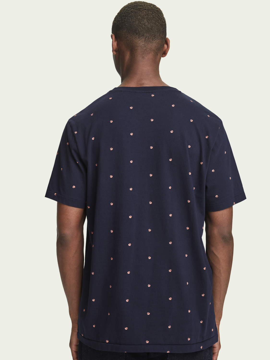 Men Cotton t-shirt with all over print