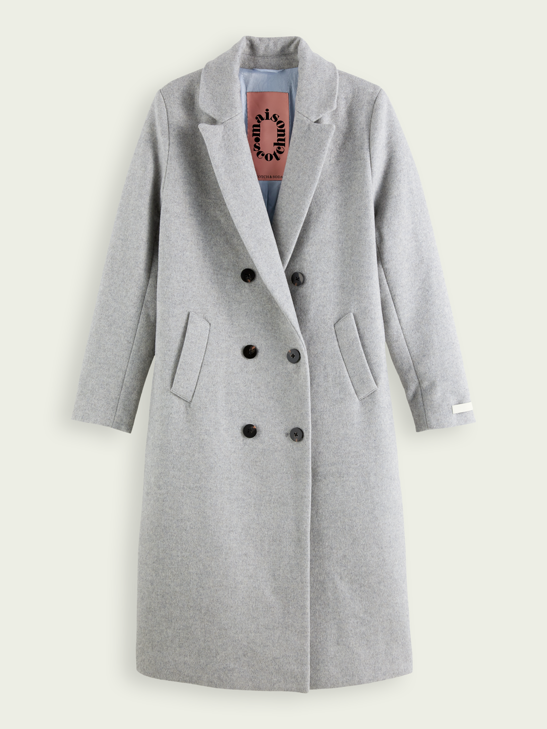 Women Tailored wool-blend double breasted coat