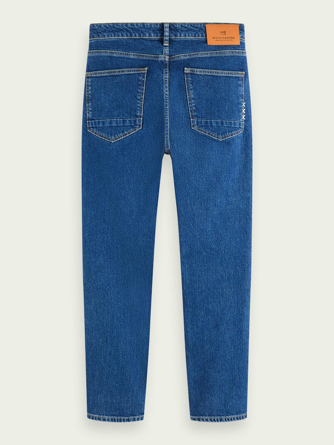 Heren Skim cropped - Blauw Sails | Mid rise skinny jeans