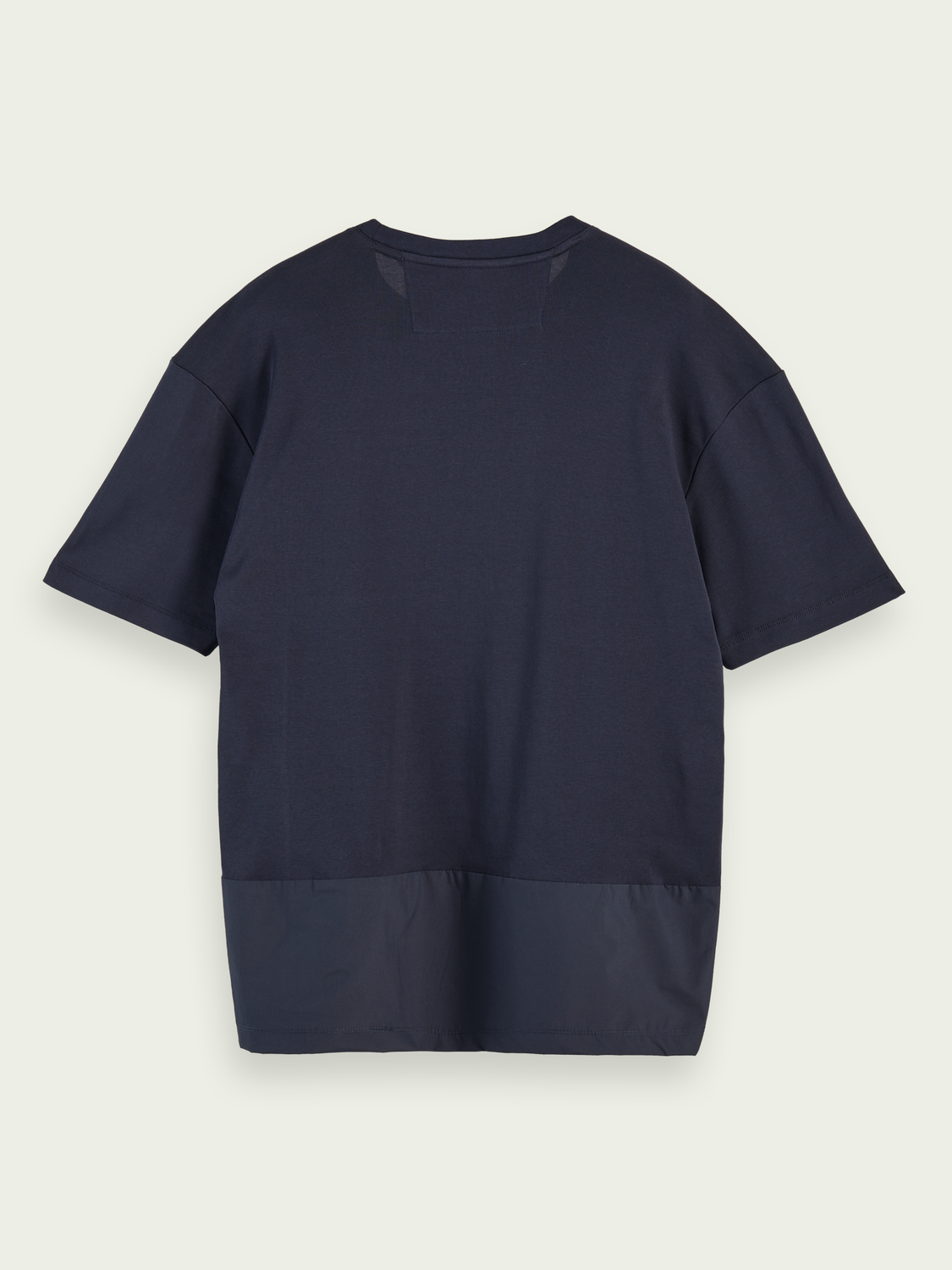 Men T-shirt with fabric insets