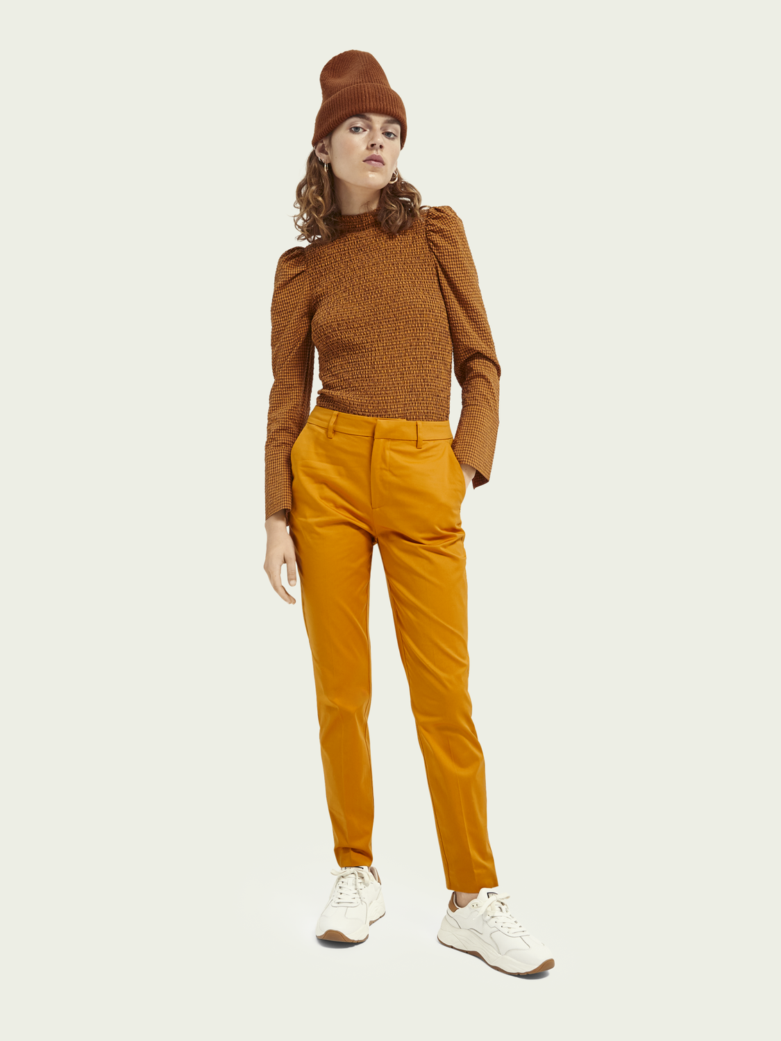 Women Bell – cotton | Mid-rise slim fit chino