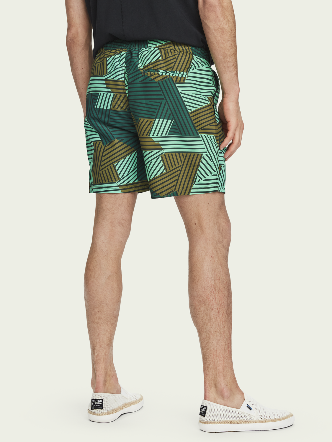 Men All-over printed swim shorts