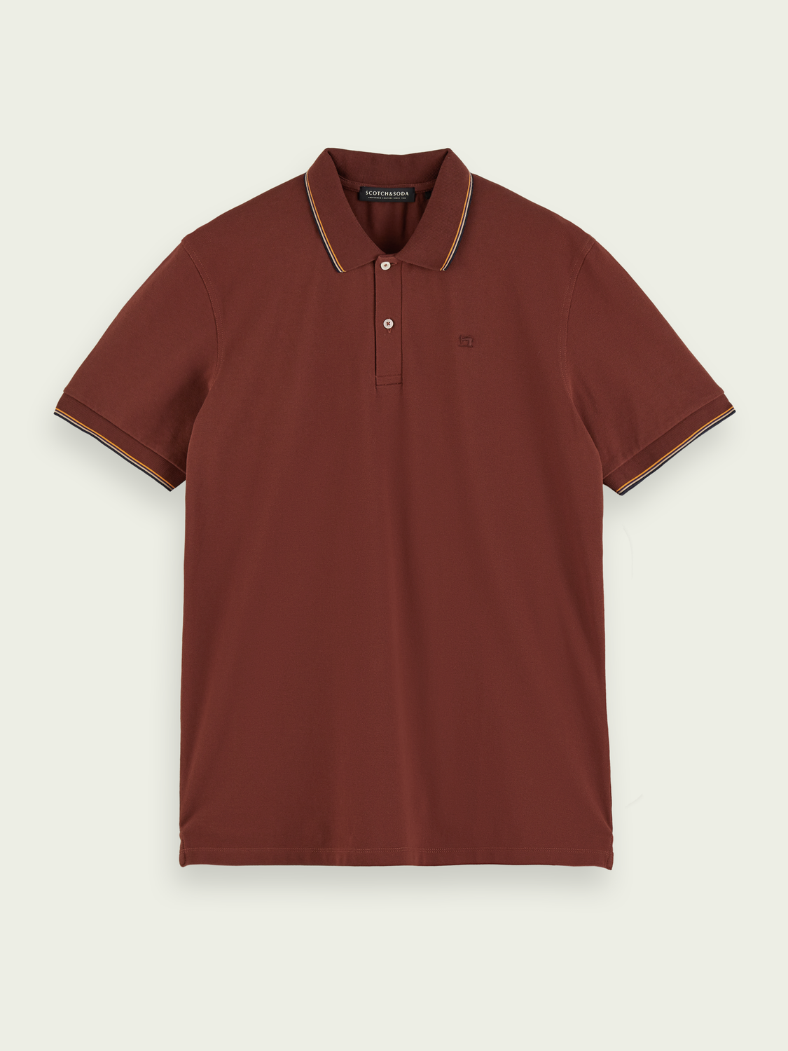Men Stretch-cotton short sleeve polo shirt