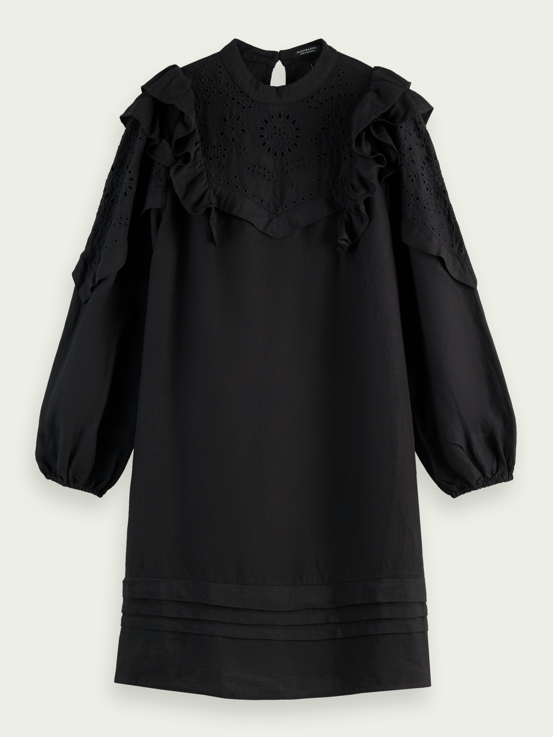 Women Embroidered balloon-sleeved dress