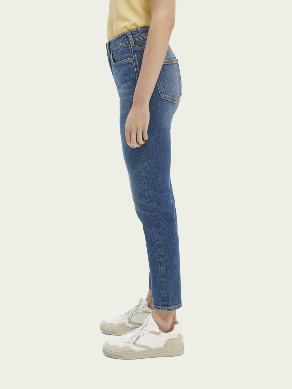 Dames High Five high-rise jeans met smalle pijpen – Sea Washed