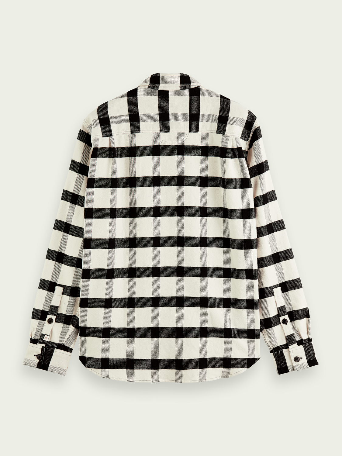 Men Checked twill relaxed-fit shirt