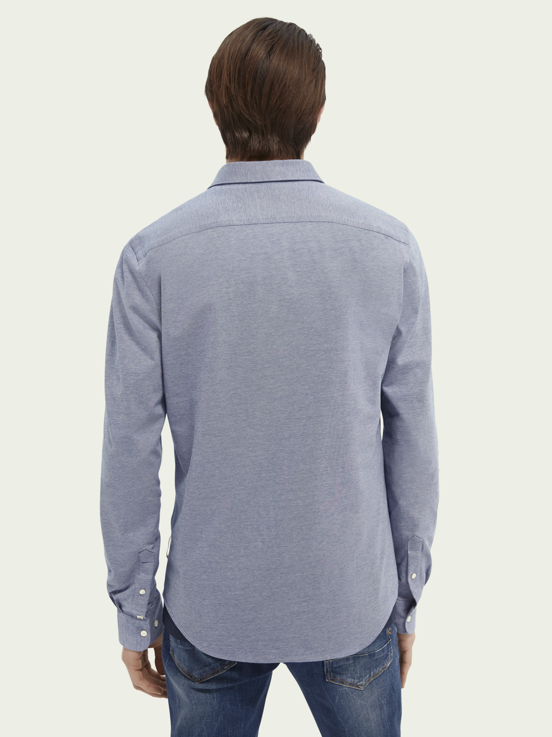 Men Classic knitted slim-fit cotton shirt