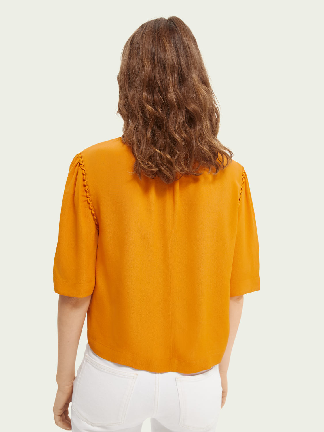 Promo Scallop detailed boxy-fit top