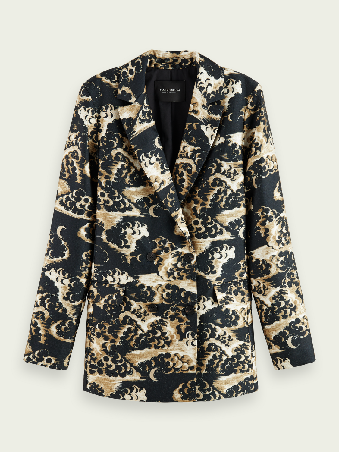Women Printed double-breasted blazer