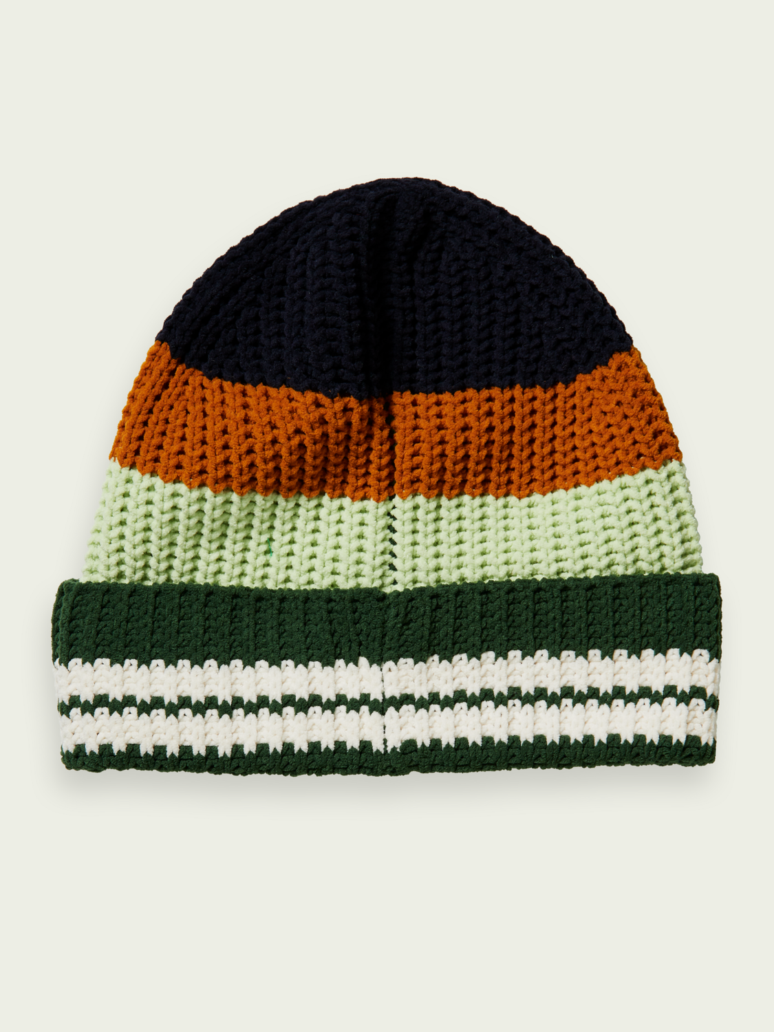 Kids Colour-block chenille beanie in Recycled fibres