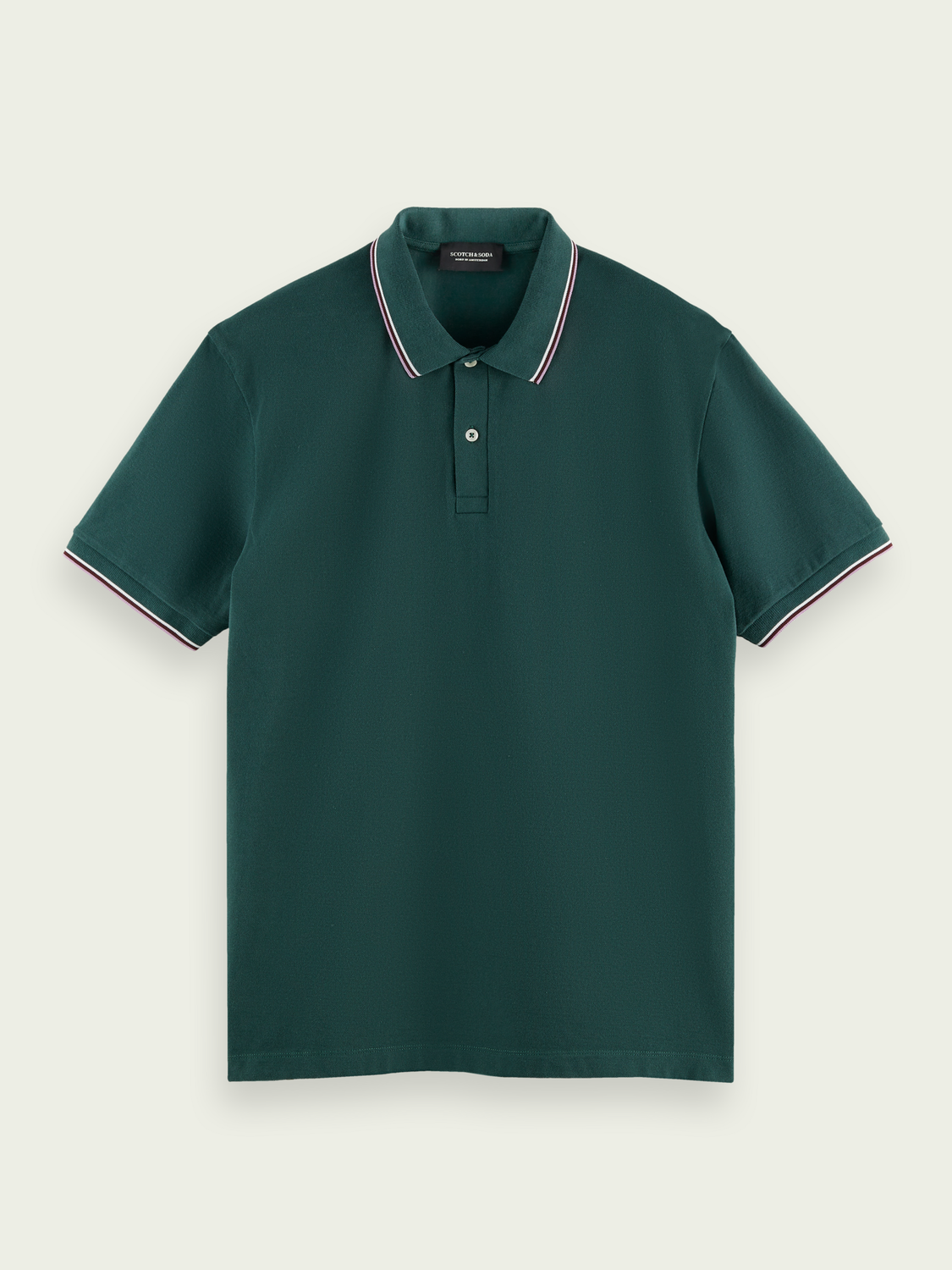 Hidden category Contrast-tipped organic cotton polo