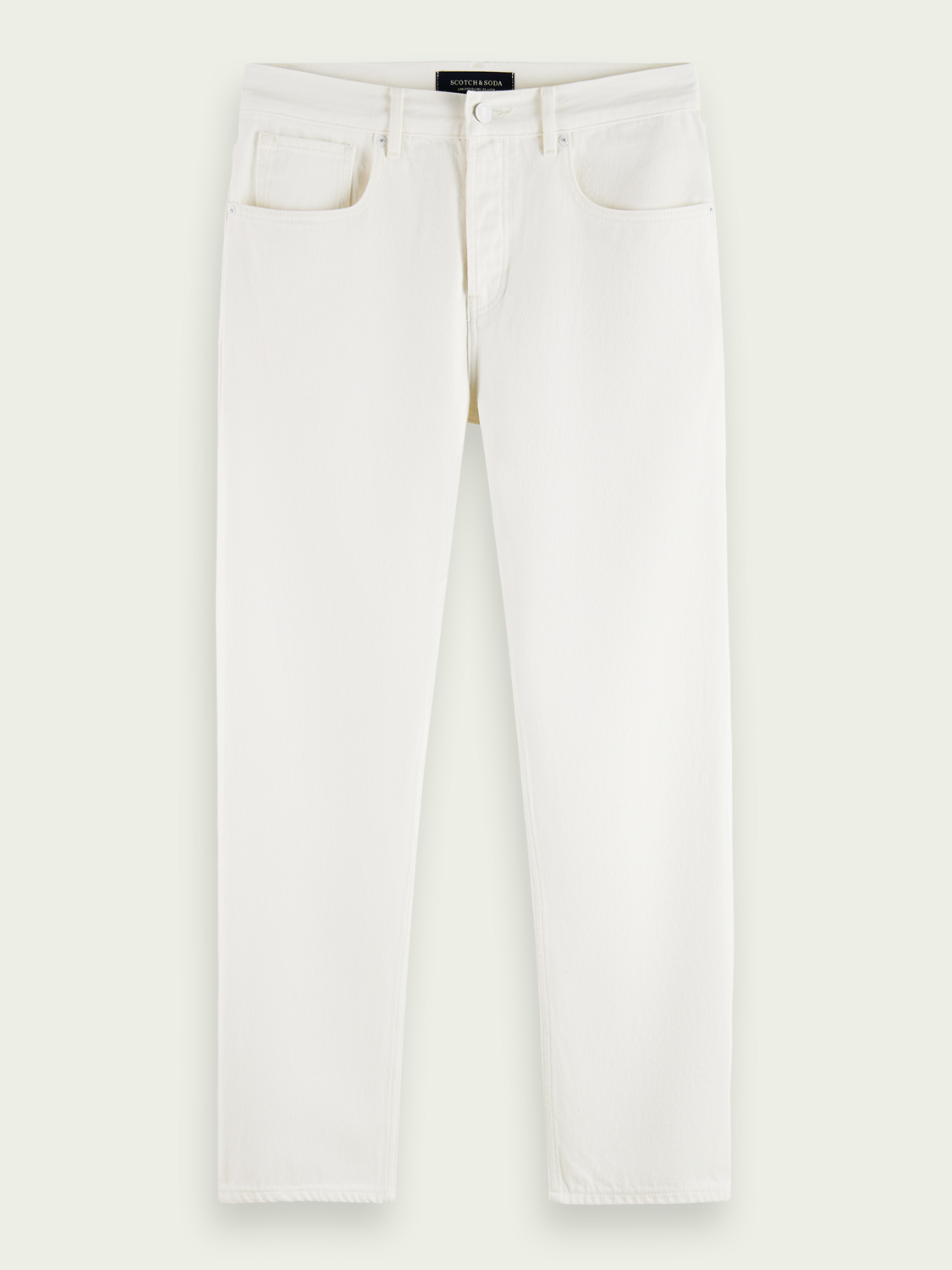 Herren The Norm Straight Fit High Rise Jeans– Winter White