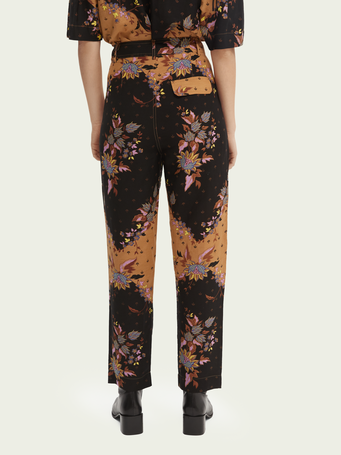 Women Draped straight-fit trousers
