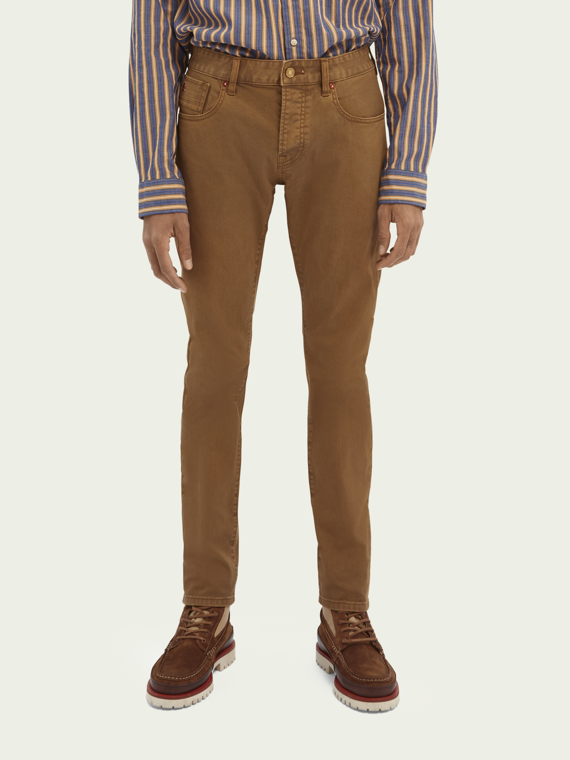 Heren Ralston garment-dyed mid rise jeans