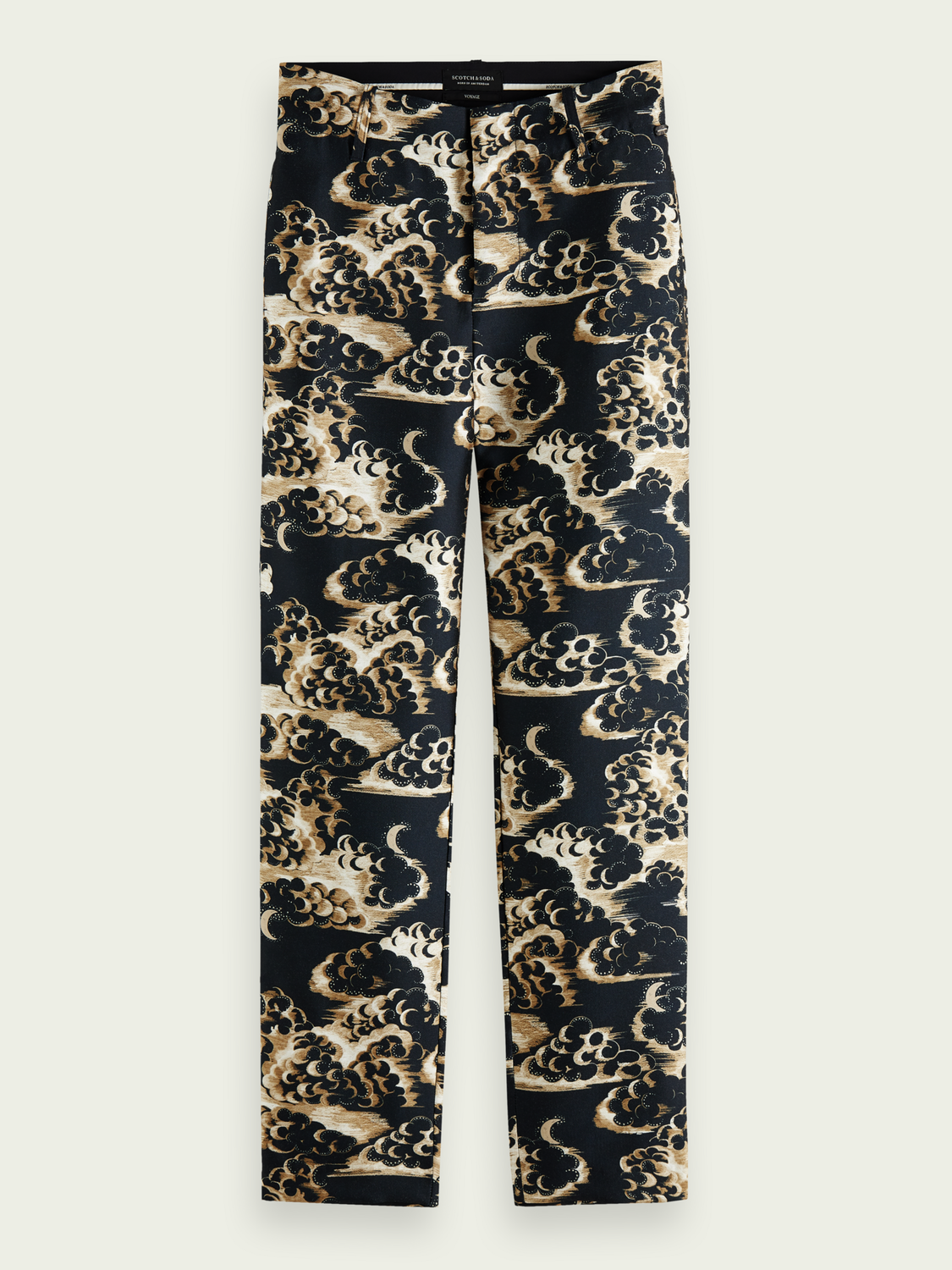 Scotch & Soda Storefront catalog Printed tapered mid-rise trousers
