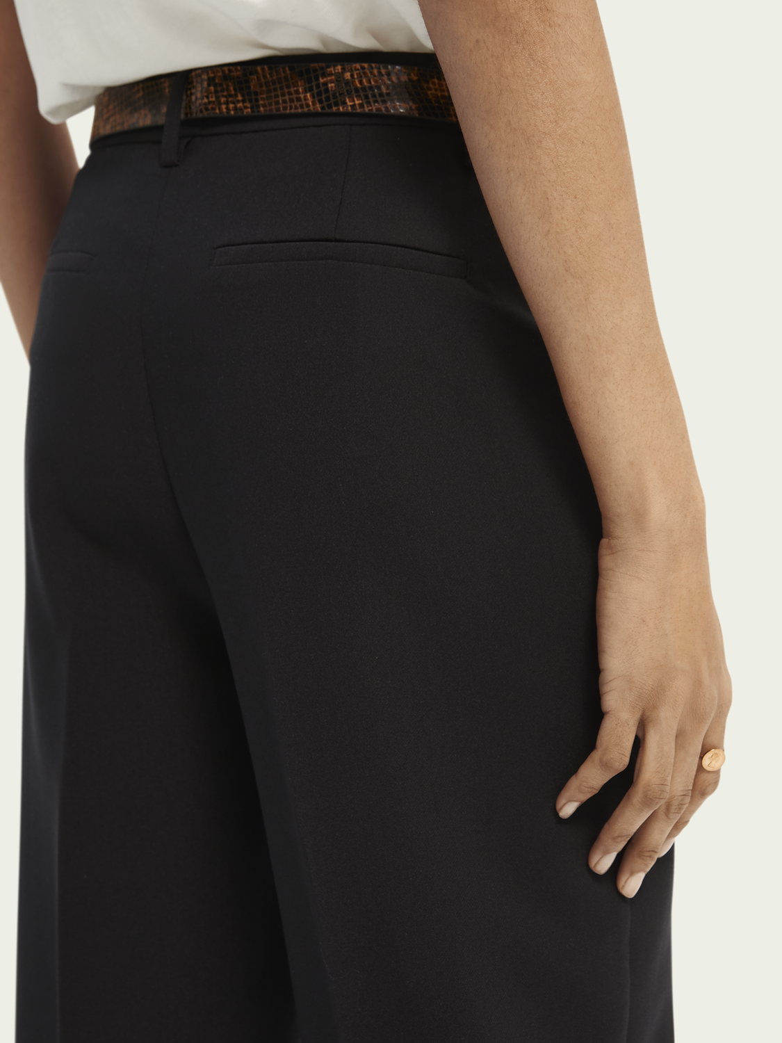 Dames Edie tailored wide-leg trousers