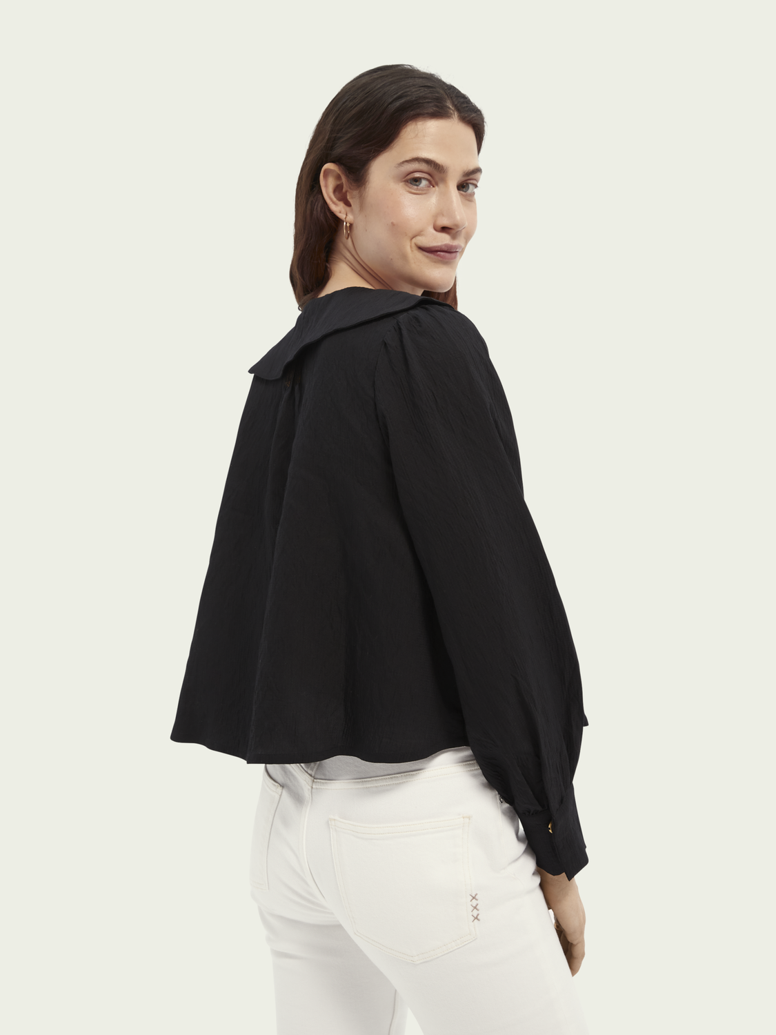 Women Contrast stitched top