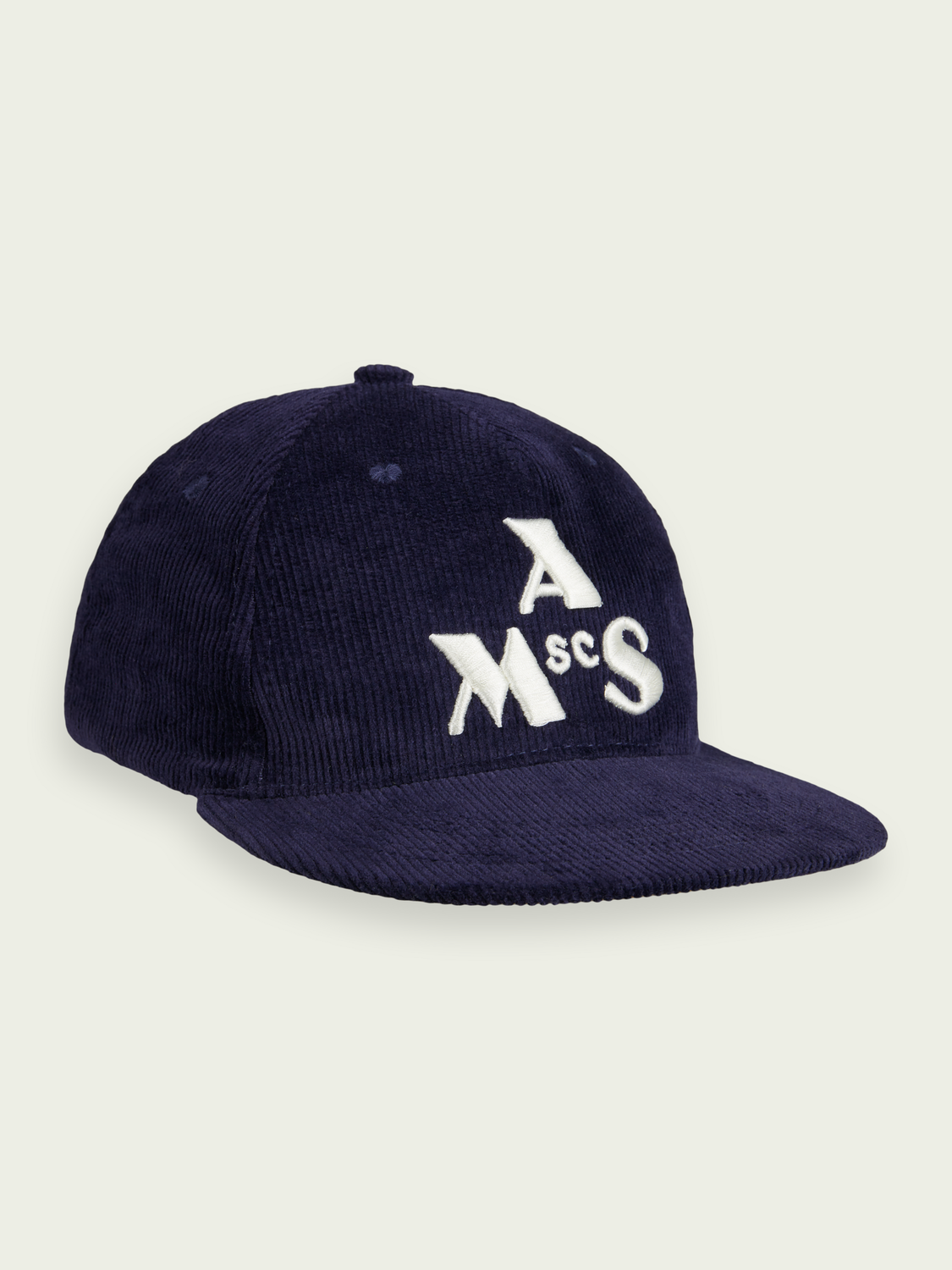Hidden category Embroidered-graphic corduroy cap