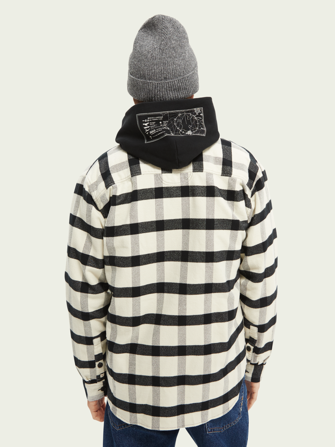 Herrar Checked twill relaxed-fit shirt