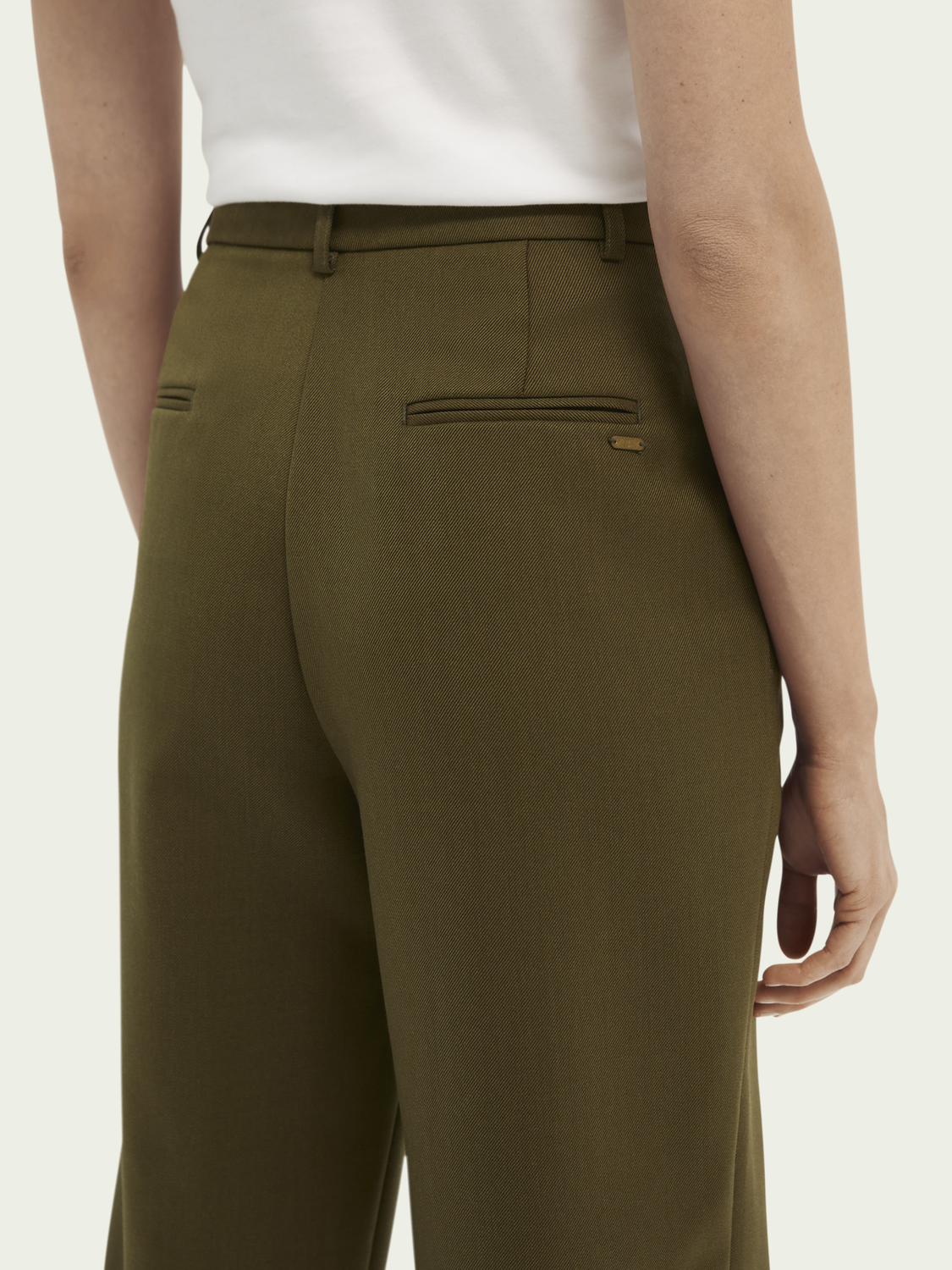 Women Pleated high-rise trousers