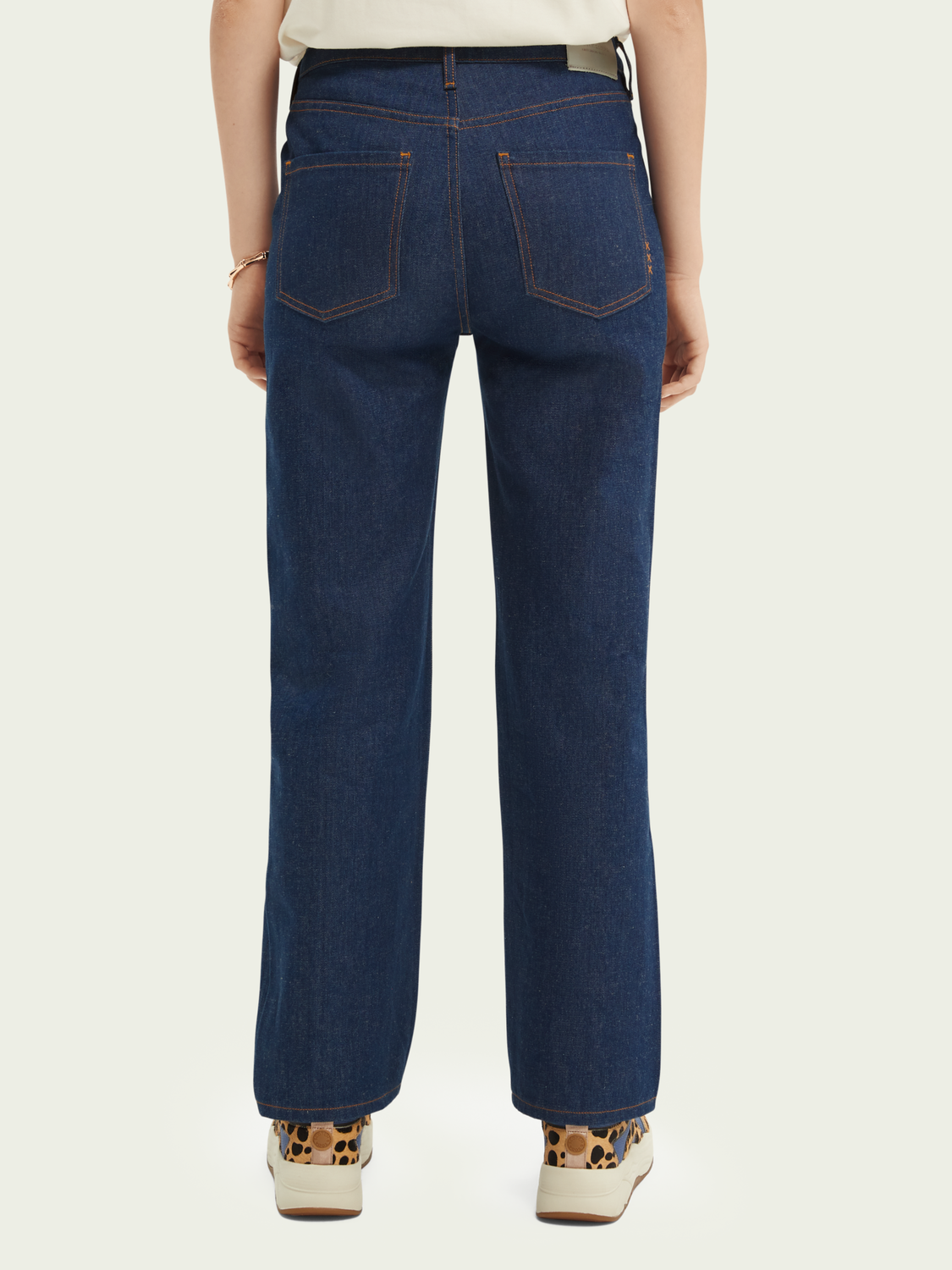 Damer The Sky jeans med high-rise straight fit - In The Blue
