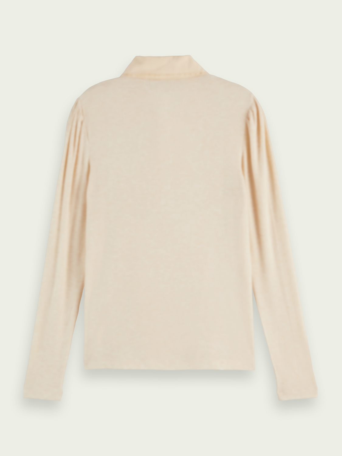 Women Fitted double collar long-sleeved T-shirt