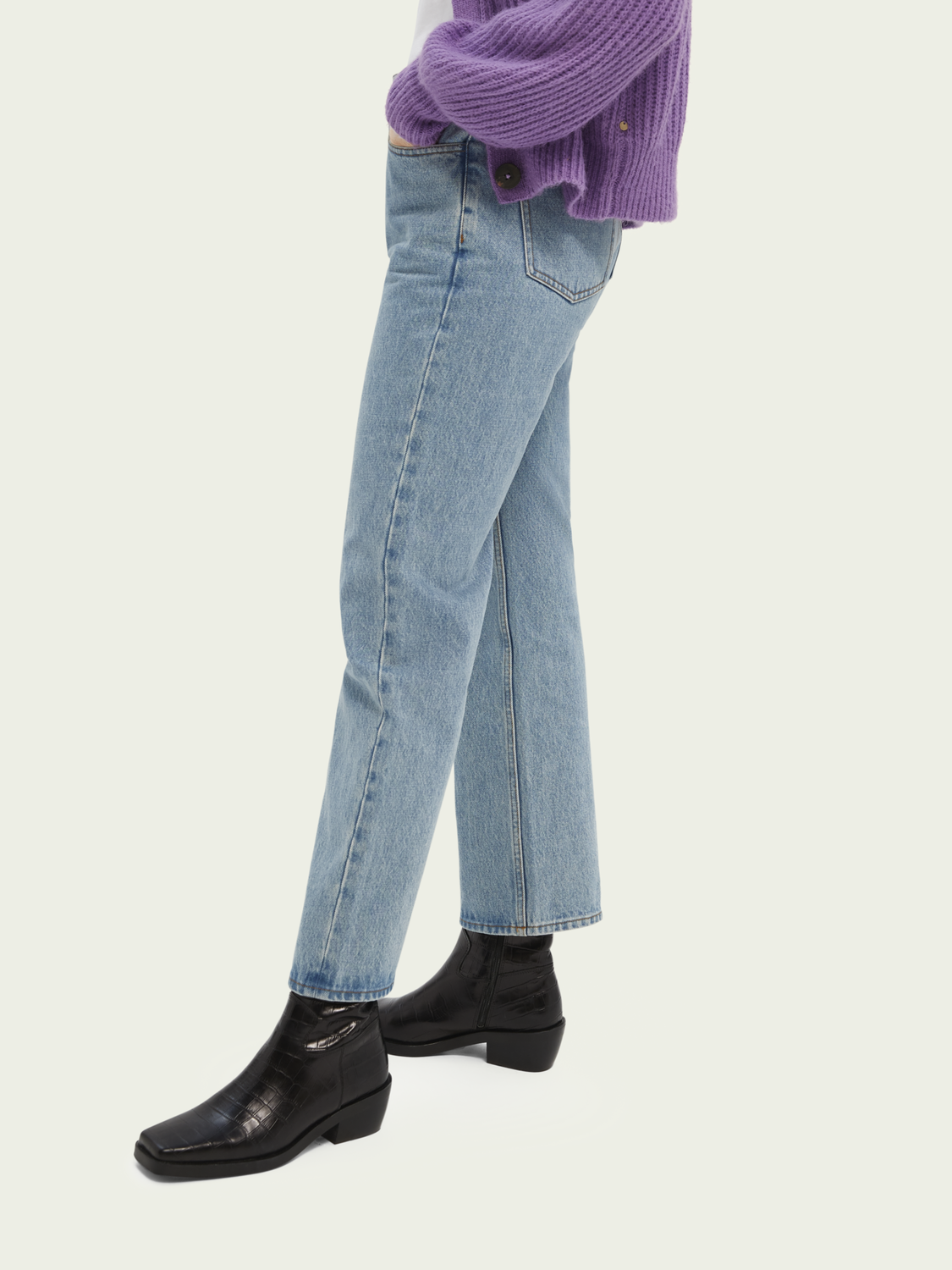 Dames High-rise straight fit broek