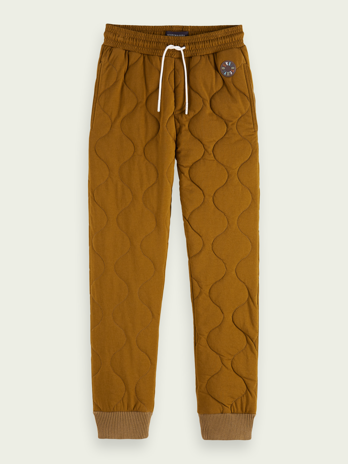 Kids Quilted loose tapered-fit sweatpants