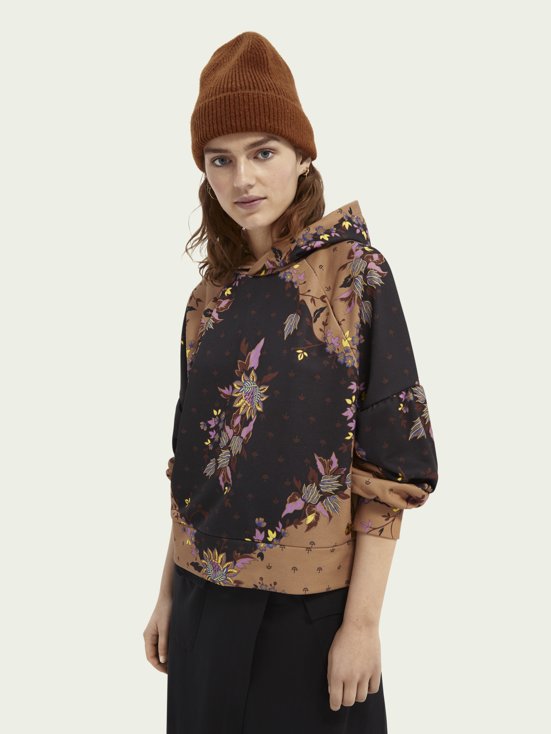 Women All over printed statement hoodie