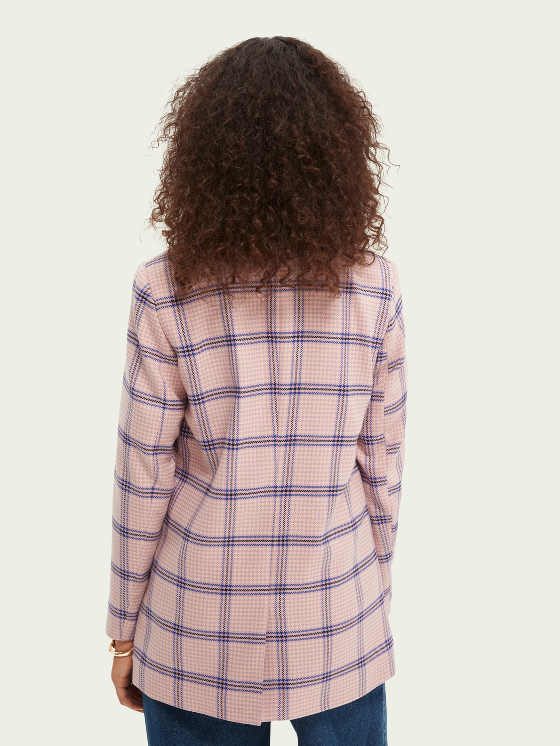 Women Houndstooth double-breasted blazer