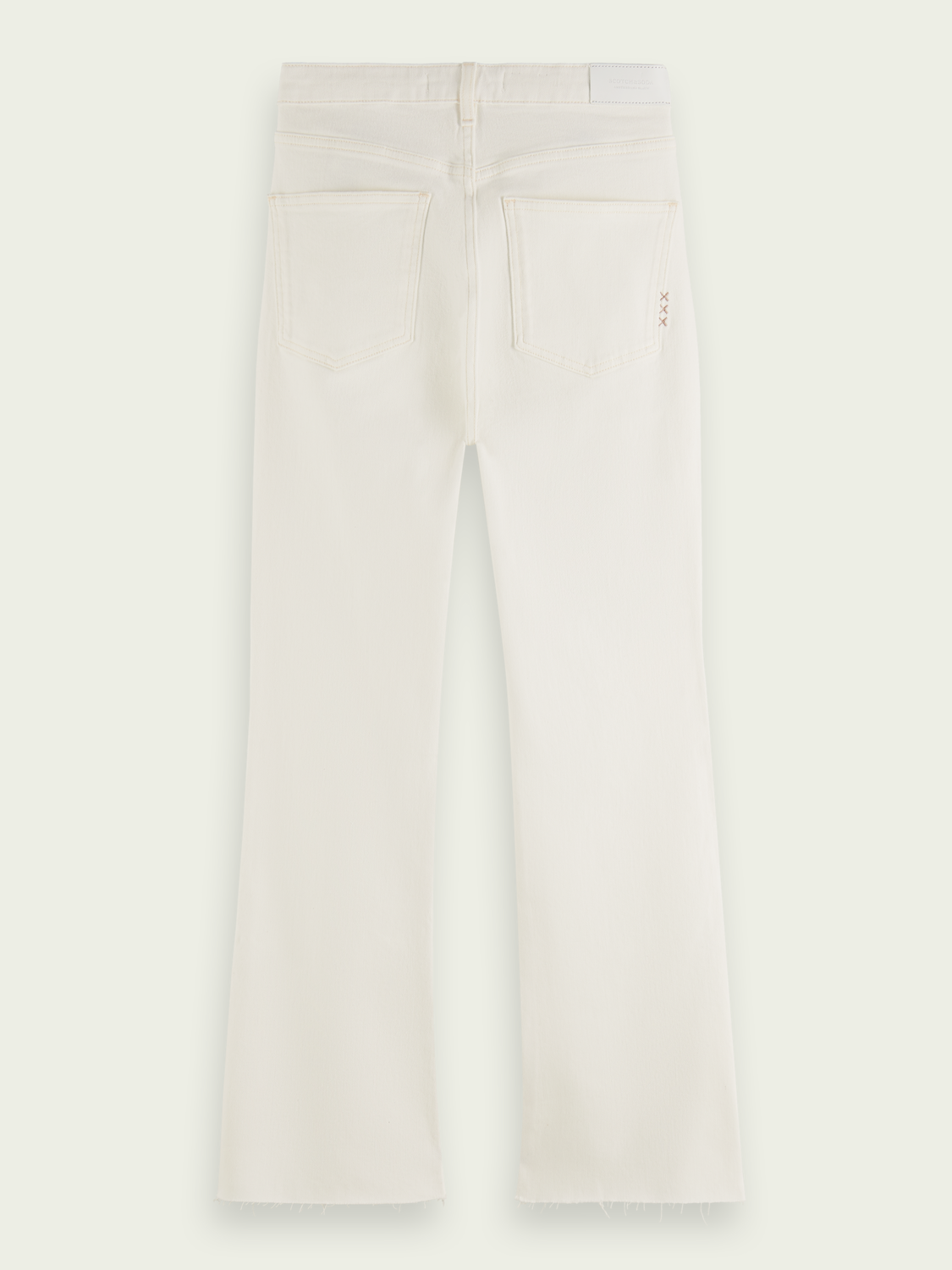 Women The Kick flared organic cotton jeans — Summer White