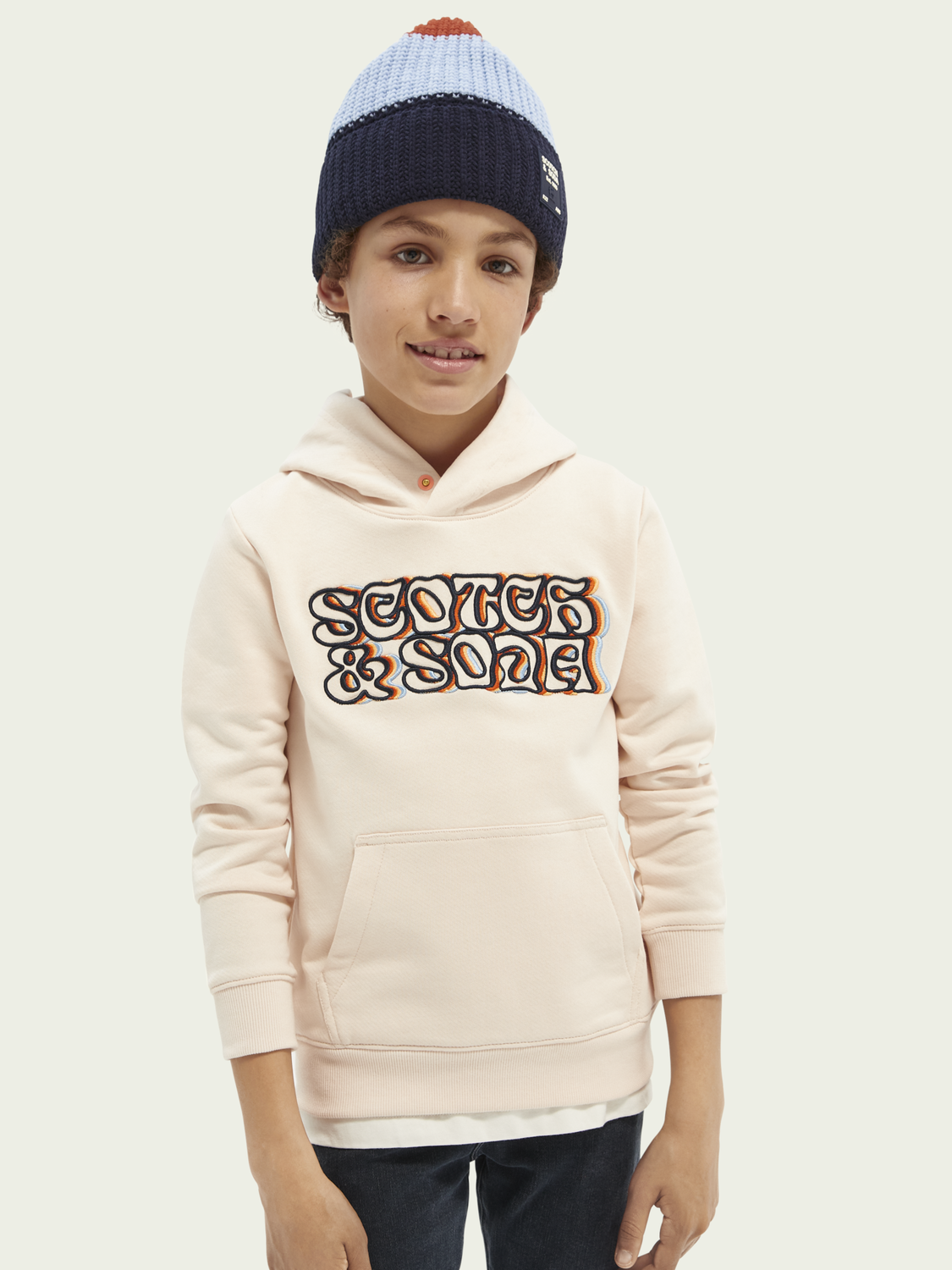 Kids Embroidered graphic hoodie