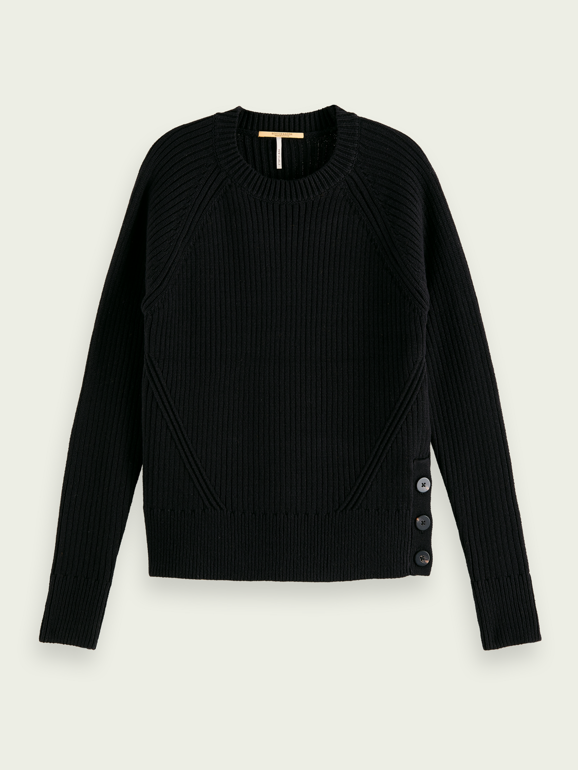 Women Ribbed knit crew neck sweater