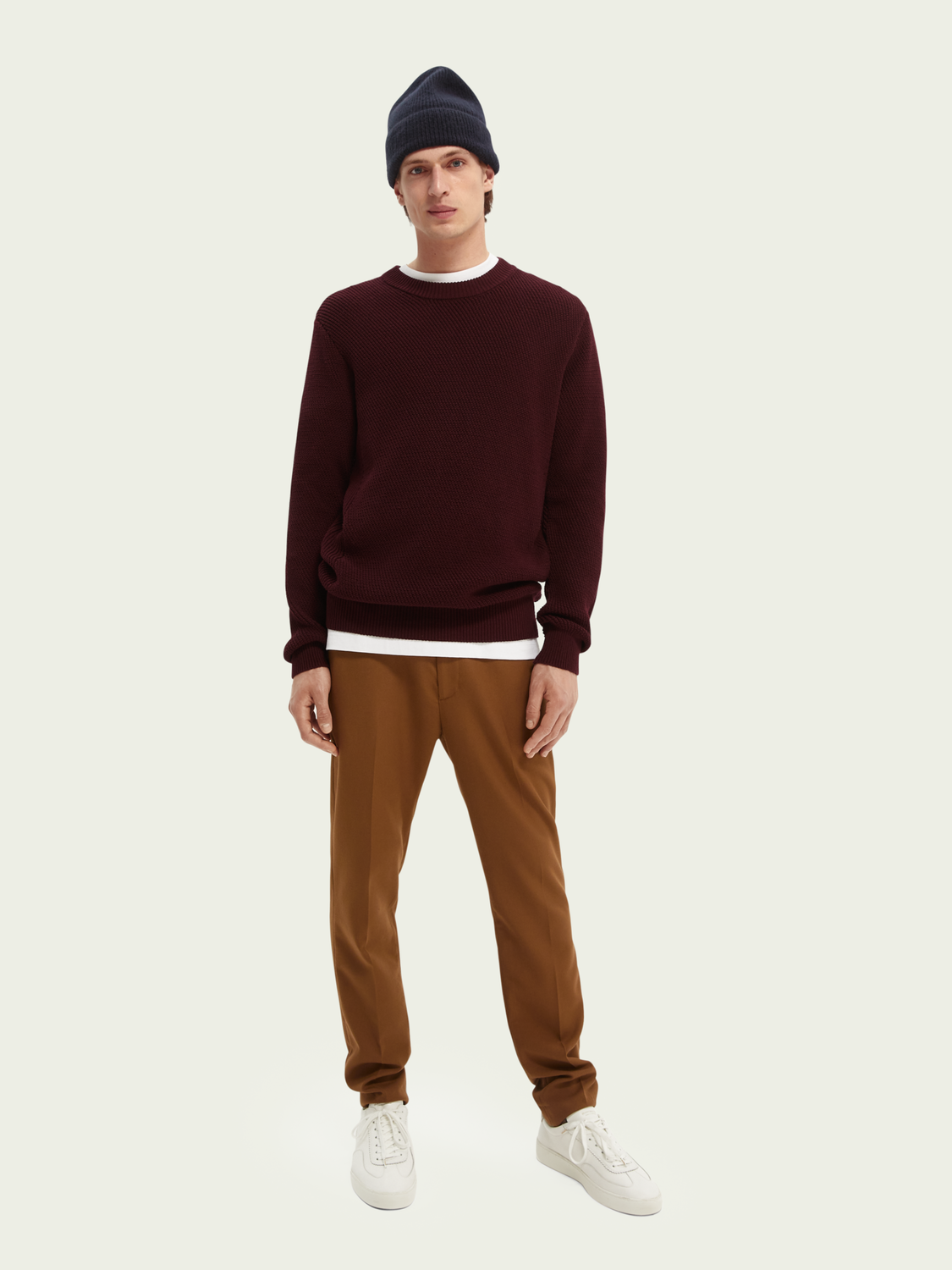 Men Structure-knitted sweater