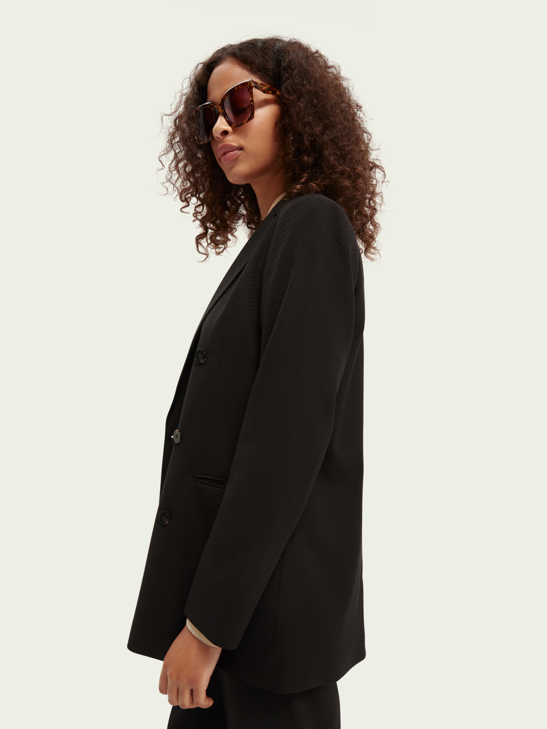 Women Double-breasted tailored blazer