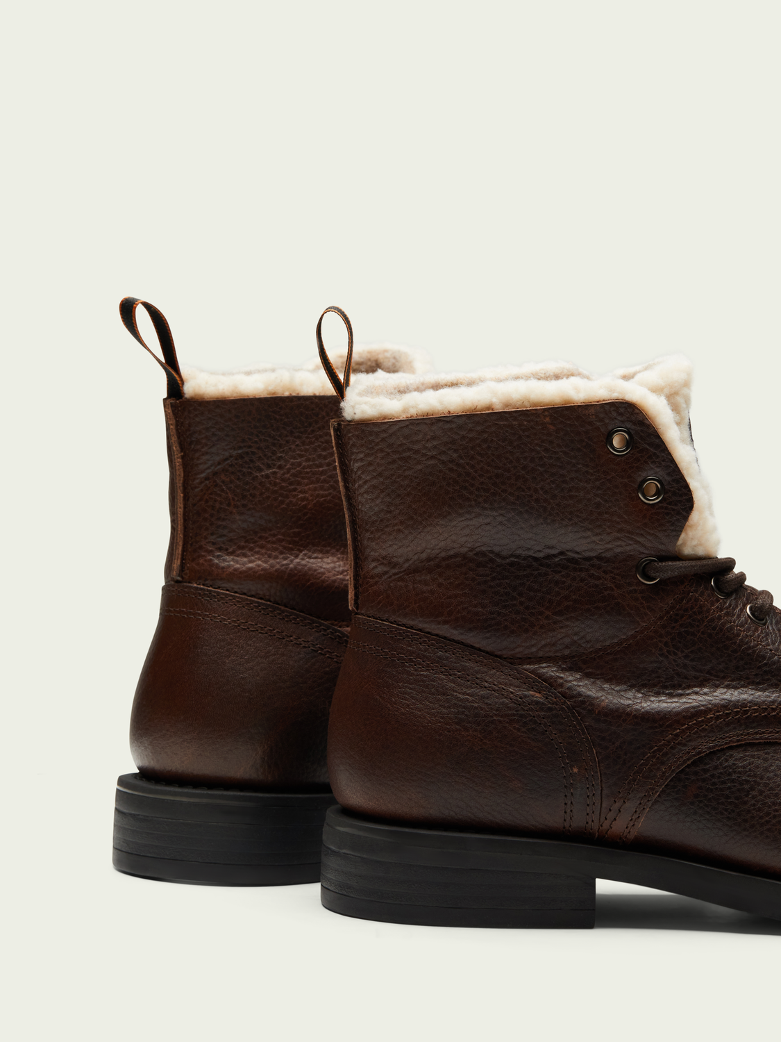Men Coltan mid-length leather boot