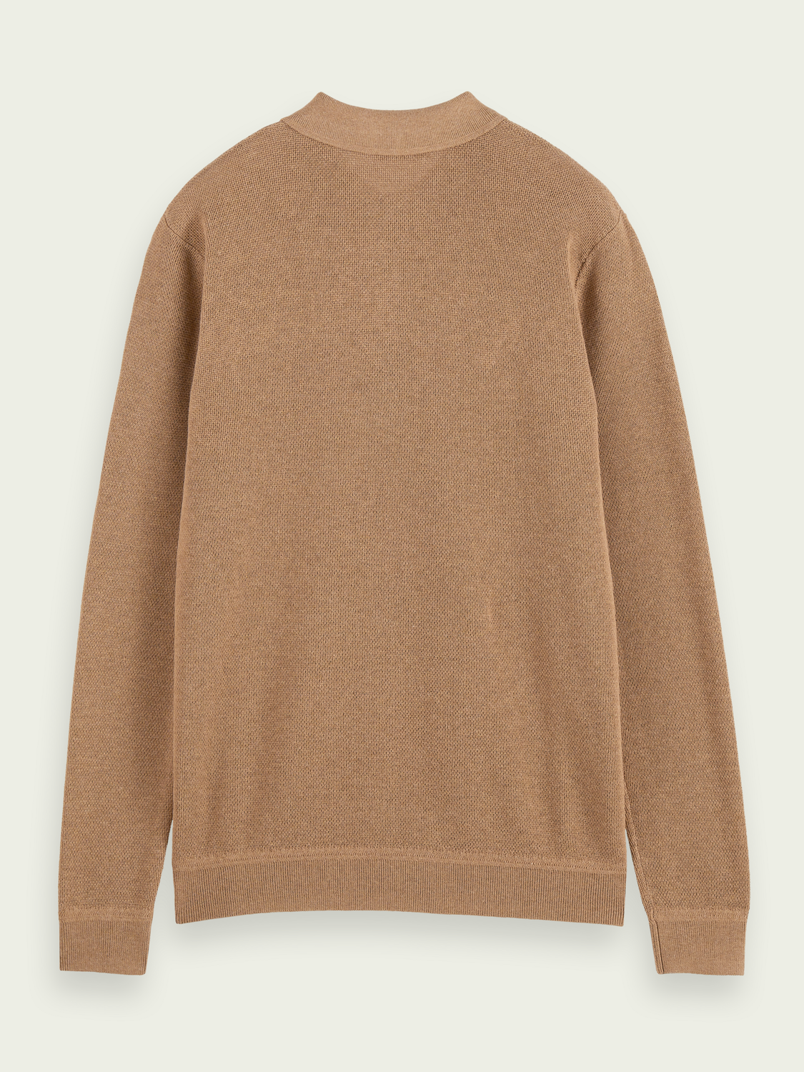 Homme Knitted long-sleeved polo