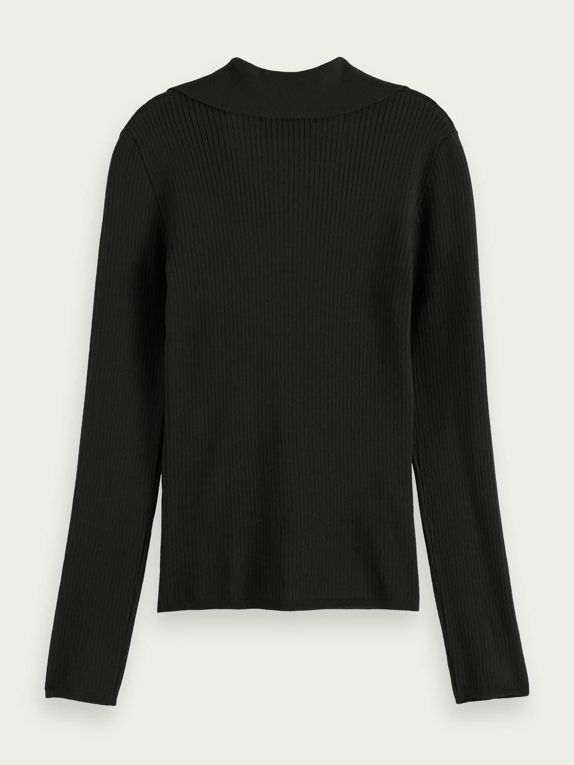 Women Ribbed collared sweater