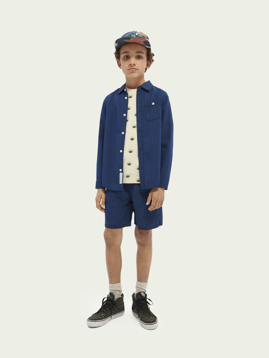Kids Striped relaxed-fit shirt