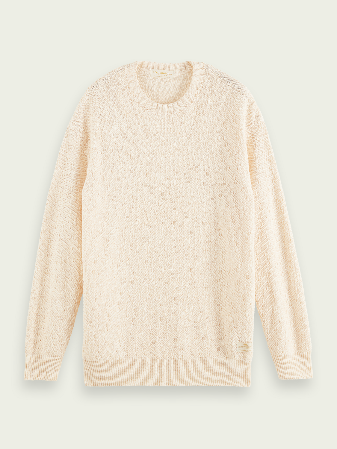 Men Structured knitted sweater