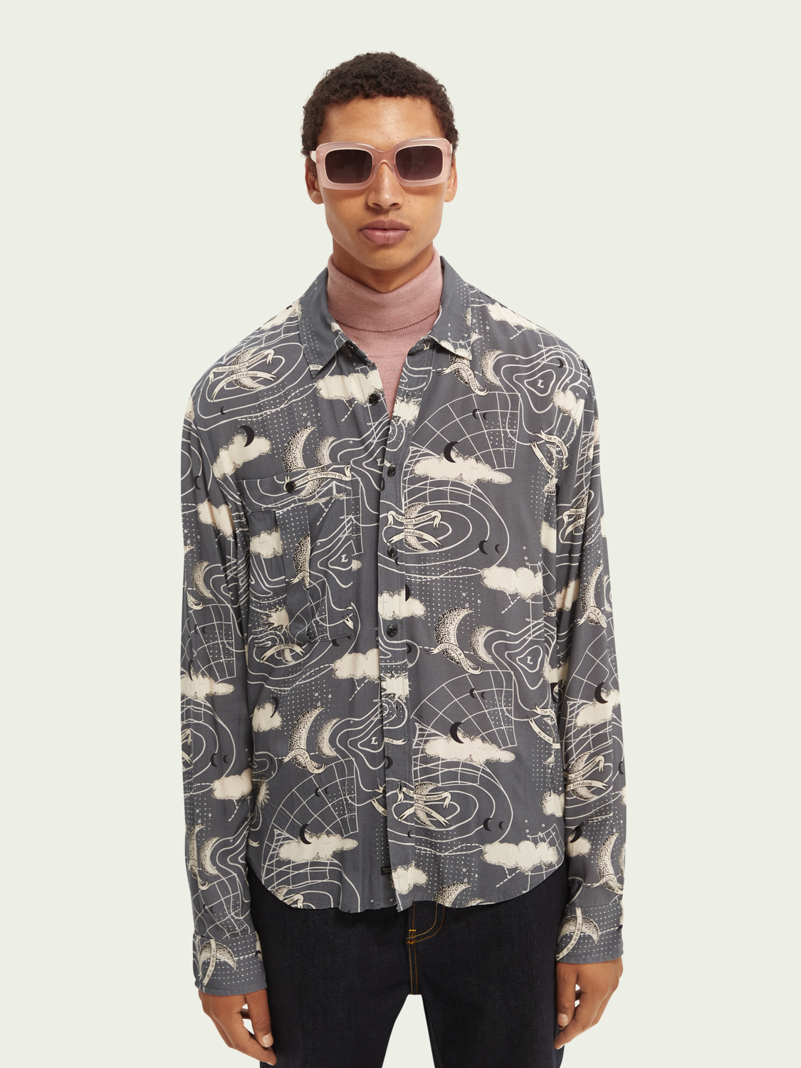 Men Printed relaxed-fit shirt